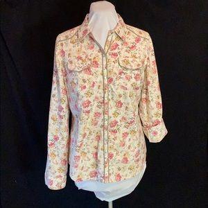 American rag snap button down blouse